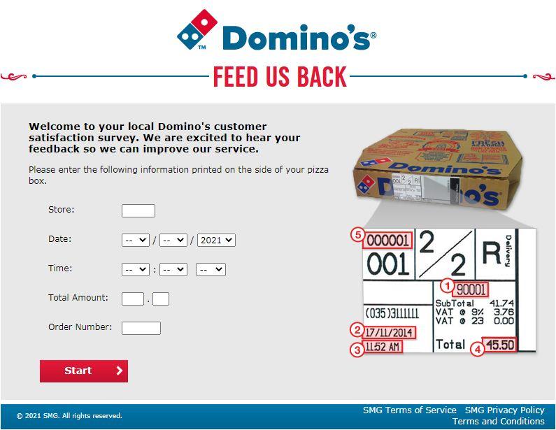 Domino's Onlline Survey