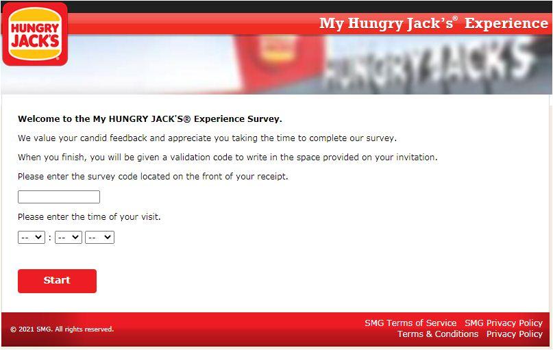 Hungry Jack's Onlne Survey