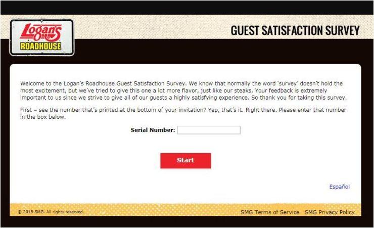 Logan's Roadhouse Survey