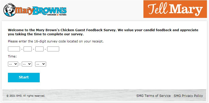 Mary Brown's Experience Survey