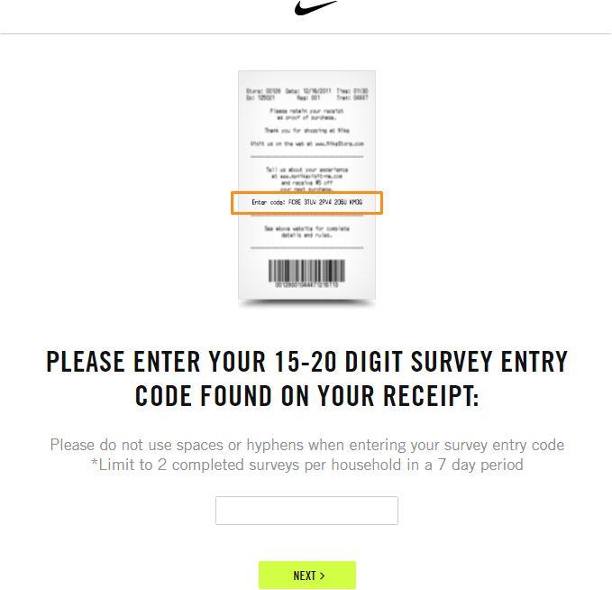 Nike Online Survey