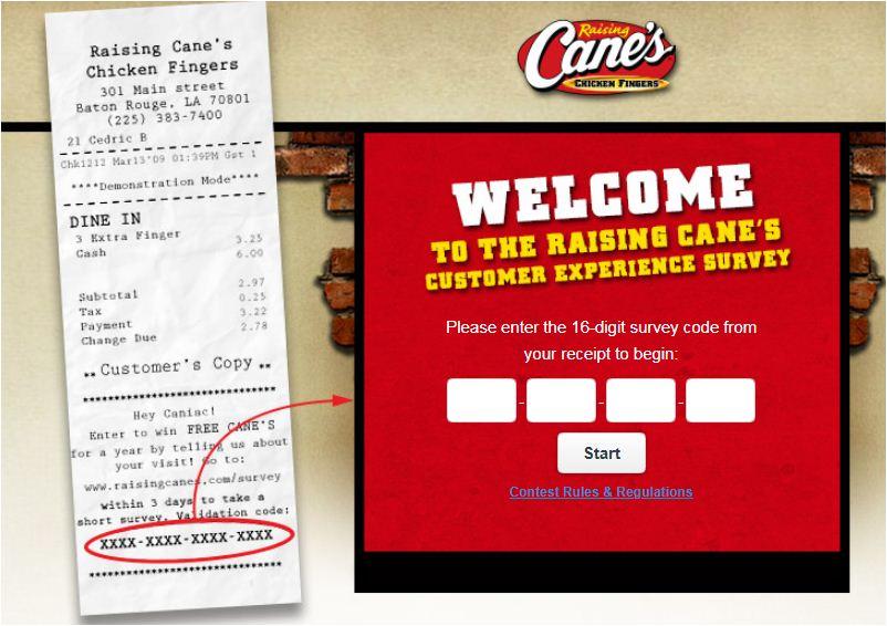 Raising Cane's Consumer Survey