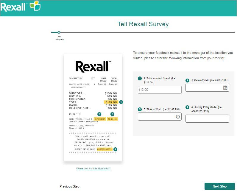 Rexall Survey